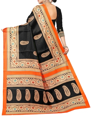 black art silk bhagalpuri saree with blouse - 15112893 - Standard Image - 2