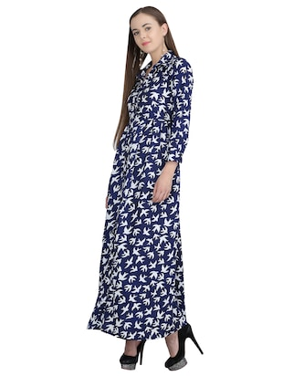 button down pleated maxi dress - 15113269 - Standard Image - 2