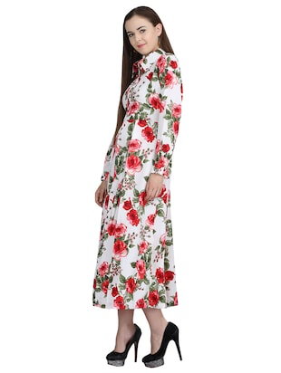 pleated floral belted maxi dress - 15113270 - Standard Image - 2
