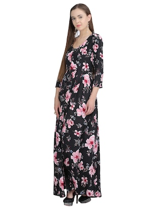 button down pleated floral dress - 15113273 - Standard Image - 2