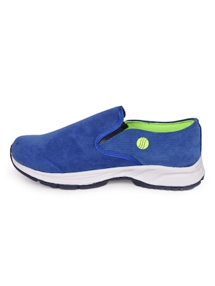 blue Canvas slip on sport shoe - 15113790 - Standard Image - 2