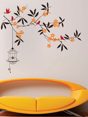 beautiful tree with flower Wall Sticker - 15114353 - Standard Image - 2