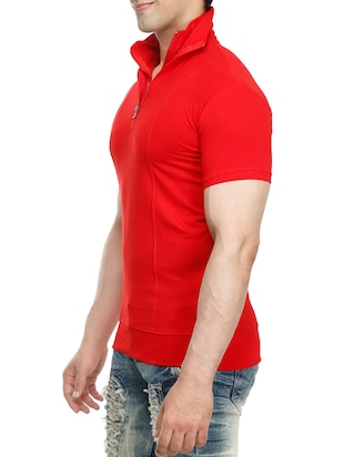 red cotton t-shirt - 15115282 - Standard Image - 2