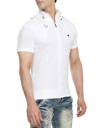 white cotton t-shirt - 15115302 - Standard Image - 2