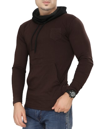 brown cotton pocket t-shirt - 15115312 - Standard Image - 2