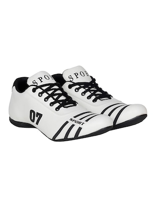 white leatherette sport shoe - 15115666 - Standard Image - 2