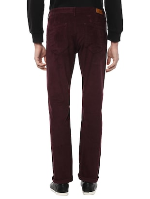 maroon cotton chinos - 15116051 - Standard Image - 2
