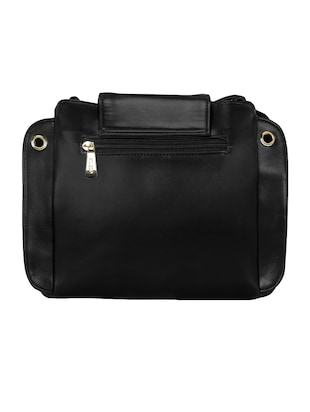 black leatherette  regular sling bag - 15116758 - Standard Image - 2
