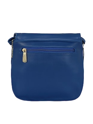 blue leatherette  regular sling bag - 15116773 - Standard Image - 2