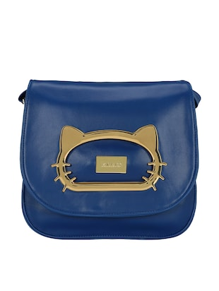blue leatherette  regular sling bag - 15116773 - Standard Image - 5
