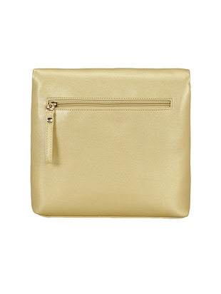gold leatherette  regular sling bag - 15116774 - Standard Image - 2