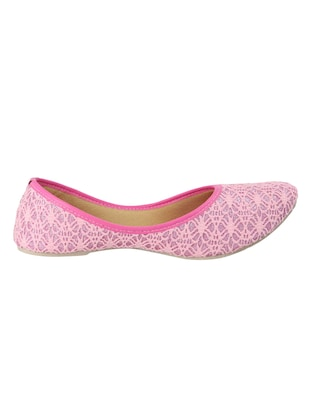 pink fabric slip on jutis & mojaris - 15116778 - Standard Image - 2