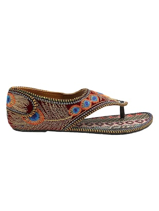 multi colored ethnic  sandal - 15116787 - Standard Image - 2