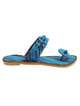 blue fabric ethnic sandals - 15116795 - Standard Image - 2