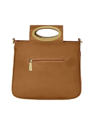tan leatherette regular sling bag - 15116988 - Standard Image - 2