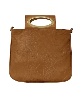 tan leatherette regular sling bag - 15116988 - Standard Image - 5