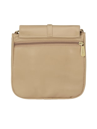 cream leatherette  regular sling bag - 15116992 - Standard Image - 2