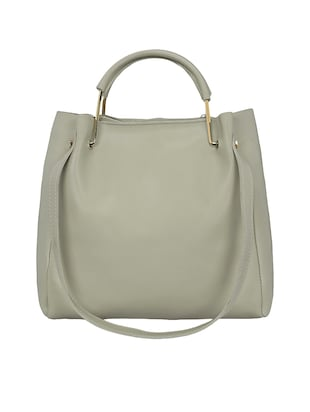grey leatherette tote - 15117130 - Standard Image - 5