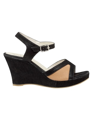 black ankle strap wedge - 15117315 - Standard Image - 2