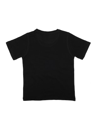 black cotton t-shirt - 15118193 - Standard Image - 2