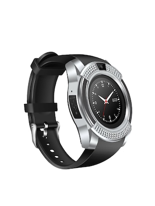 JM New V8 Black Silver Colour Smart Watch With Sim/sd card support - 15118710 - Standard Image - 2