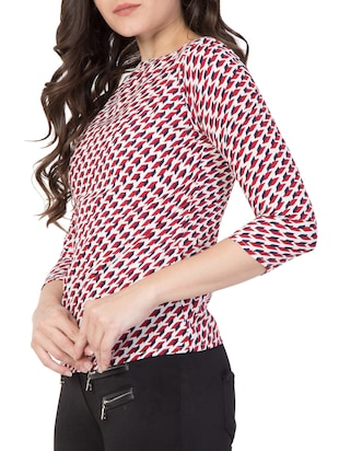 red printed top - 15119022 - Standard Image - 2