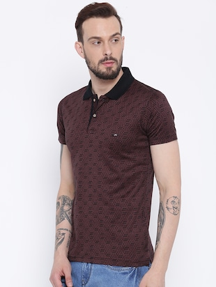 brown cotton polo t-shirt - 15119051 - Standard Image - 2