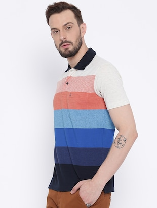 multi colored cotton pocket t-shirt - 15119073 - Standard Image - 2