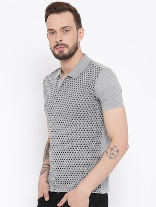 grey cotton front print t-shirt - 15119137 - Standard Image - 2