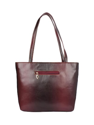 brown leatherette handbag - 15121348 - Standard Image - 2