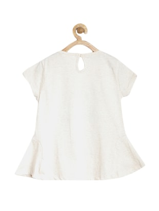 white cotton  top - 15122667 - Standard Image - 2