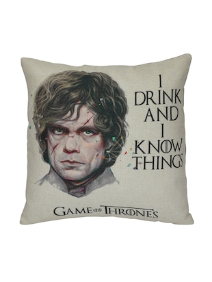 Game of Thrones Cushion Cover Jute, 16 X 16 Inches - 15123396 - Standard Image - 2