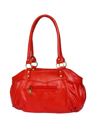 red leatherette regular handbag - 15123956 - Standard Image - 2