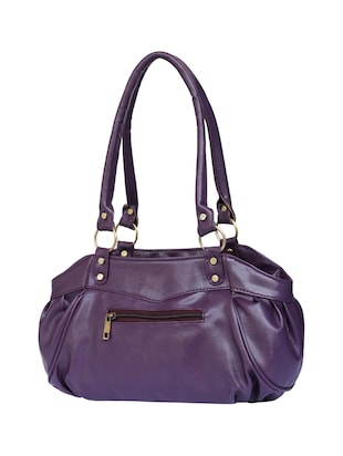purple leatherette  regular handbag - 15123957 - Standard Image - 2