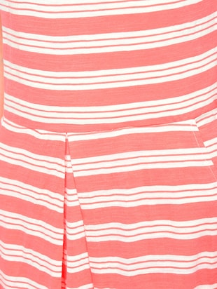 pink striped cotton a-line dress - 15136251 - Standard Image - 5