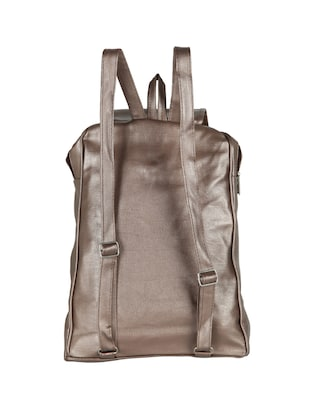 metallic  leatherette  fashion backpack - 15136428 - Standard Image - 2