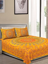 Jaipuri Traditional Double Bedsheet with 2 pillow covers -  online shopping for bed sheet sets