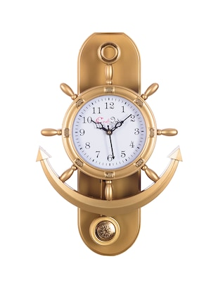 Decorative Retro Anchor Golden Pendulum Wall Clock - 15148932 - Standard Image - 2