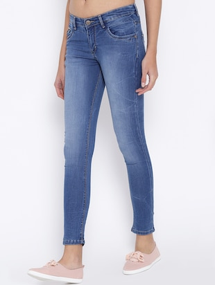 blue stone wash denim jeans - 15152919 - Standard Image - 2