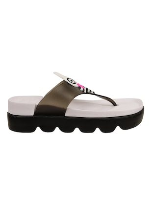 d0b54b75a3d Buy Black Toe Separator Flip Flop for Women from Visteria for ₹363 ...