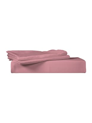 300 TC 100% Cotton Sateen Solid, Mauve Glow Color, Pair Of Regular Size Pillow Covers - 15170247 - Standard Image - 2