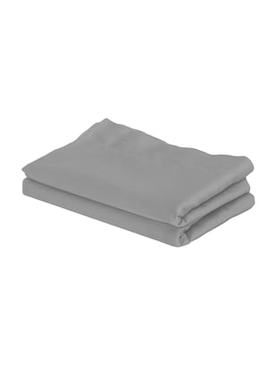 300 TC 100% Cotton Sateen Self Striped, Grey Color, Pair Of Regular Size Pillow Covers - 15170264 - Standard Image - 2