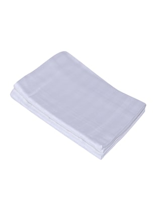 300 TC 100% Cotton Sateen Pencil Striped, Milky White Color, Pair Of Large Size Pillow Covers - 15170286 - Standard Image - 2