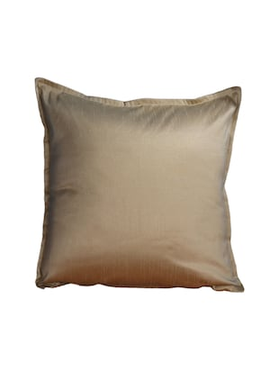 Set Of 2 16x16 Inches Solid Dupion Poly Silk Cushion Covers - 15170549 - Standard Image - 2