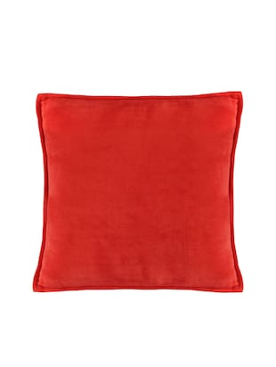 Set of 2 100% Cotton Velvet Red Regular Size Cushion Covers - 15170561 - Standard Image - 2