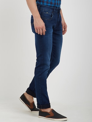 blue cotton washed jeans - 15171617 - Standard Image - 2