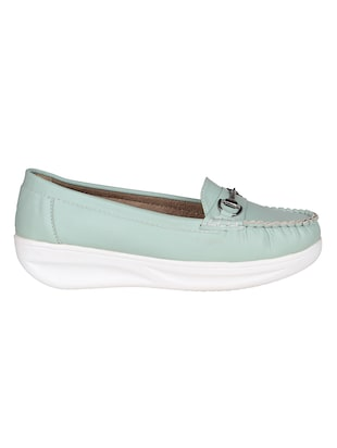 sea green resin slip on loafers - 15173292 - Standard Image - 2