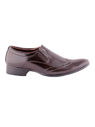 brown leatherette formal slip on - 15173373 - Standard Image - 2