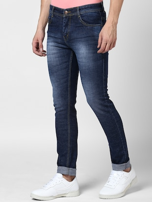 blue denim washed jeans - 15175247 - Standard Image - 2