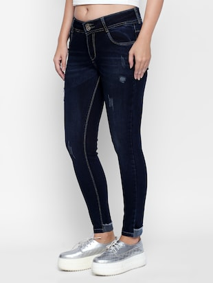 dark blue denim jeans - 15175424 - Standard Image - 2
